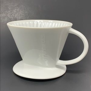 Starbucks Pour-Over White Ceramic Mug Drip Filter